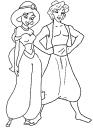 Pobarvanke risanke - Aladin