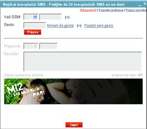 Pošlji brezplačen SMS - simobil